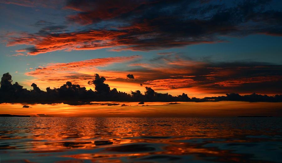 Tropical Island Beach Sunset: Beautiful Sunset At Tropical Island Key Largo Fl