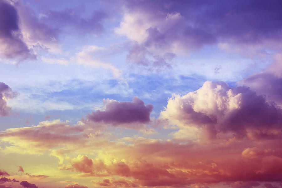 Beautiful Sunset Cloudscape Photograph by Blackred