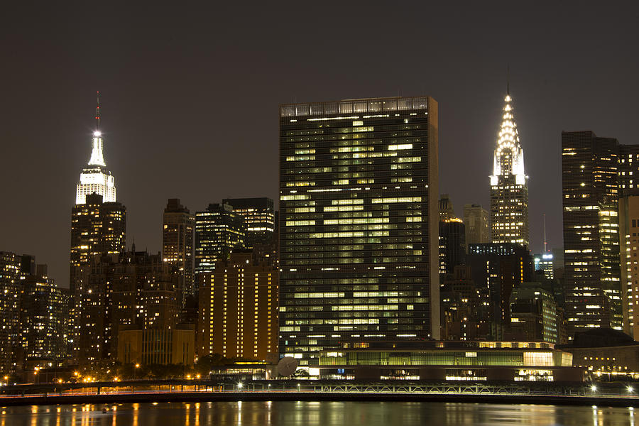 Empire State Building Photograph - Beauty Of The Night by Theodore Jones