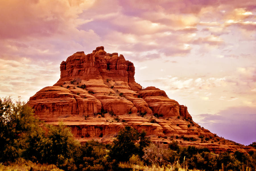 Bell Rock Painting - Bell Rock Vortex Painting by Bob and Nadine Johnston