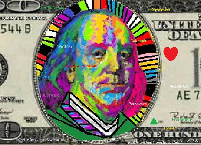 Ben Franklin Digital Art - Ben Franklin by Ann Kipp