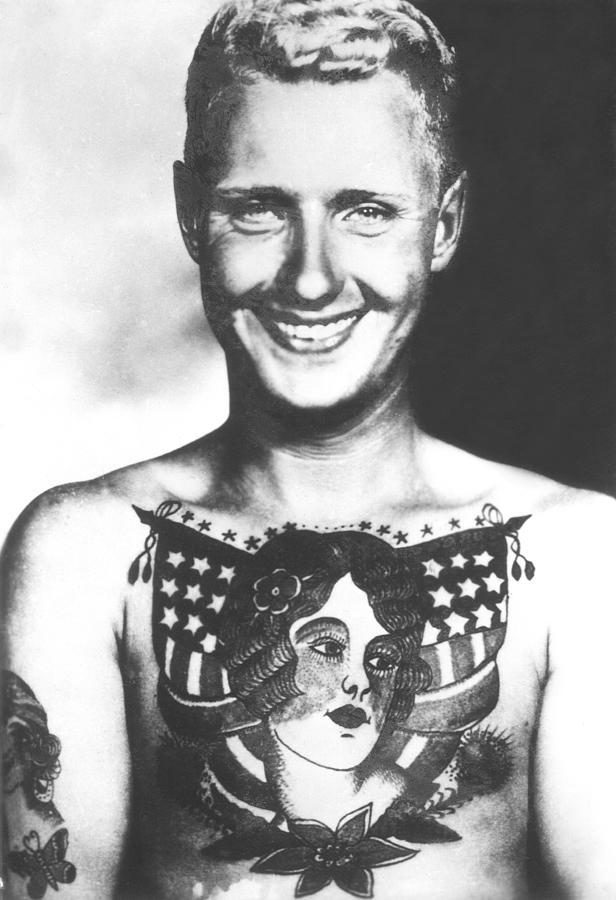 Bert Grimm Vintage Tattoo Flash Art Photograph By Larry Mora