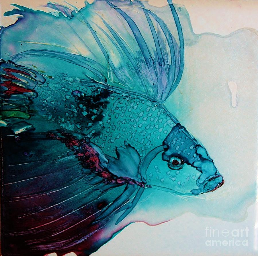 Betta dragon fish painting by marcia breznay for Betta fish painting