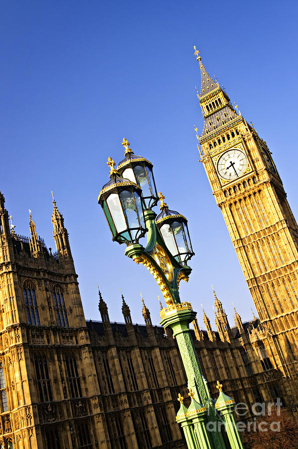 Big Photograph - Big Ben And Palace Of Westminster by Elena Elisseeva