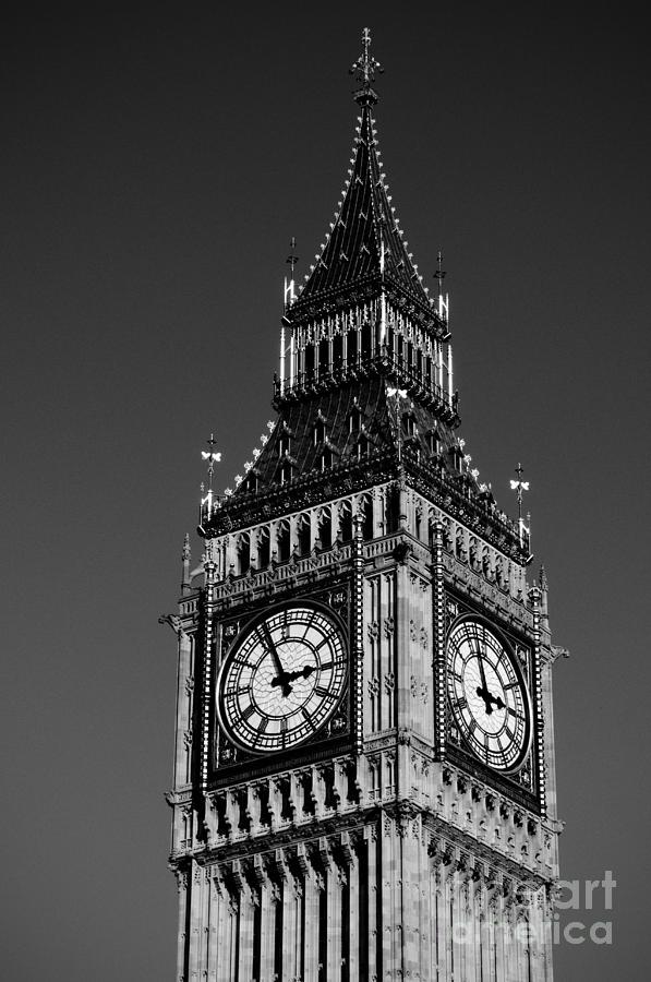 B&w Photograph - Big Ben by Lana Enderle