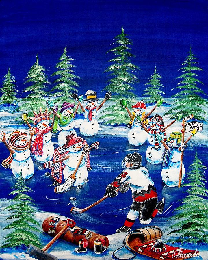 Hockey Painting - Big Boy Dreams by Jill Alexander