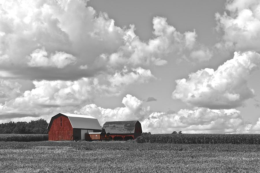 Red Photograph - Big Sky by Frozen in Time Fine Art Photography