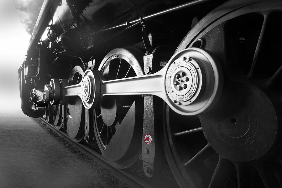 Transportation Photograph - Big Wheels by Mike McGlothlen