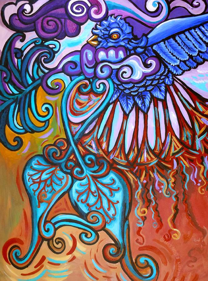 Bird Painting - Bird Heart I by Genevieve Esson