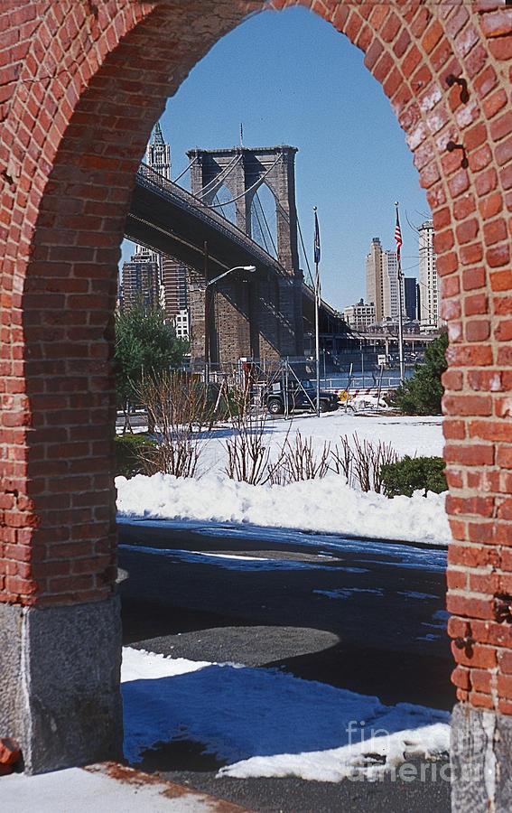 Brooklyn Bridge Photograph - Bklyn Bridge by Bruce Bain