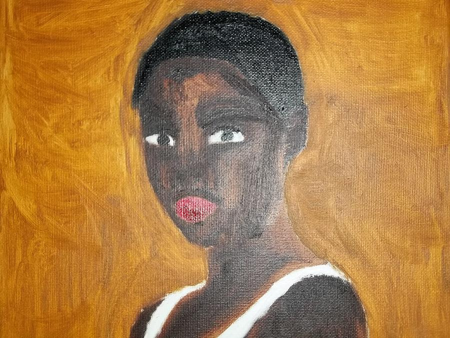 Black Woman Painting - Black African American Woman Of 2013 by William Sahir House