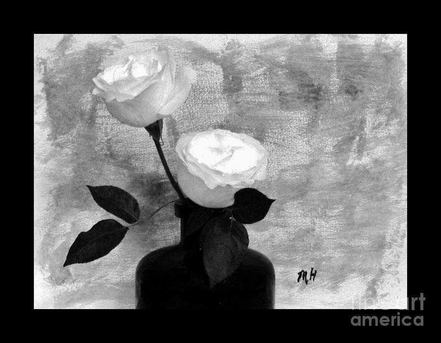 Photo Photograph - Black And White Rose by Marsha Heiken