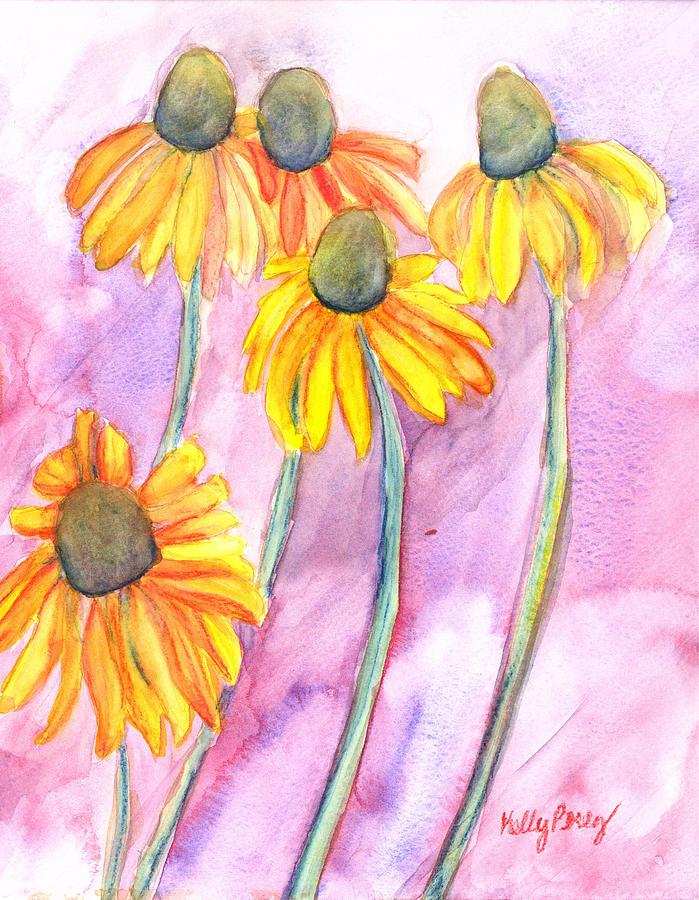 Echinacea Painting - Black-eyed Susan by Kelly Perez