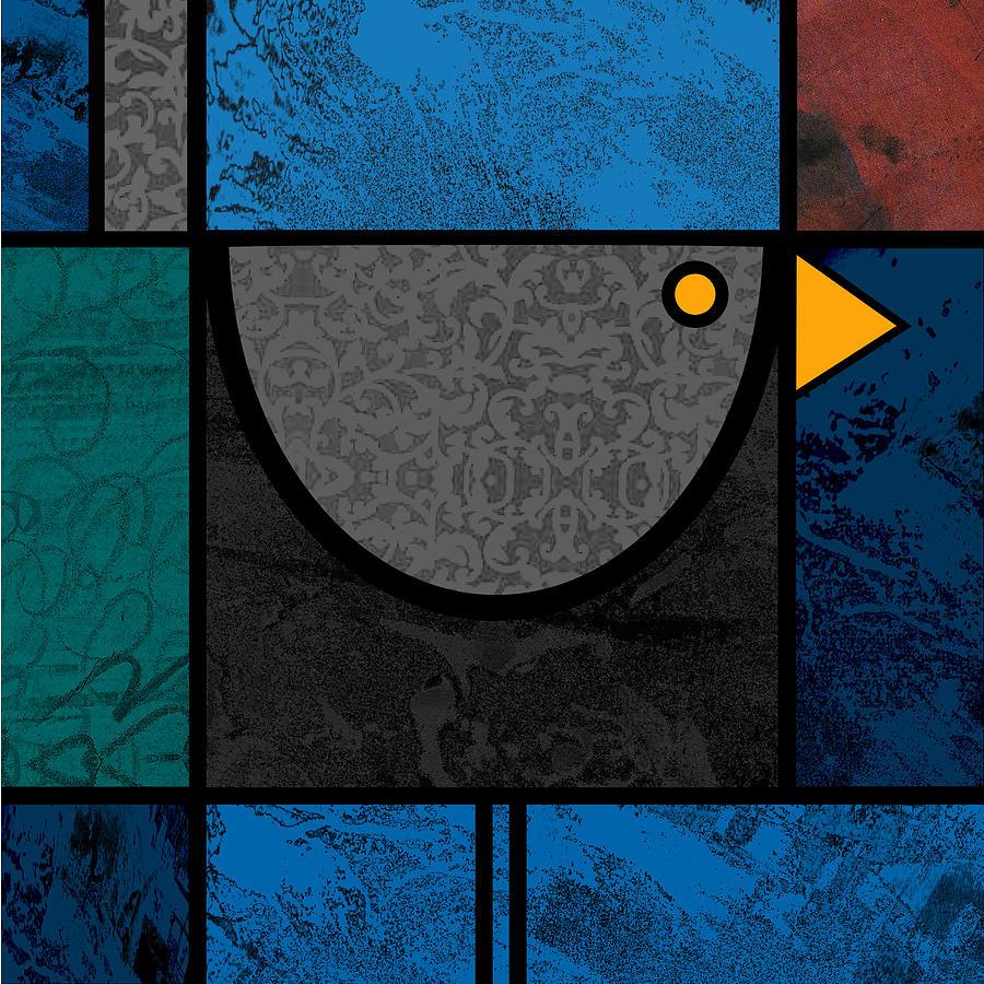 Bird Painting - Blackbird by Kenneth North