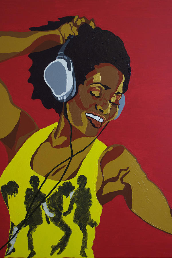 Acrylic Painting - Blame It On The Boogie by Rachel Natalie Rawlins