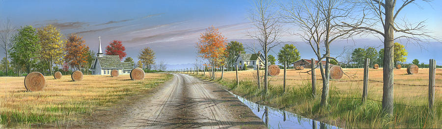 Landscape Painting - Bless Thy Fertile Soil by Mike Brown