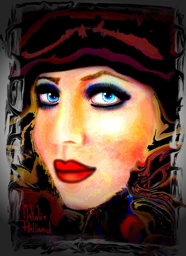Woman Mixed Media - Blue Eyes by Natalie Holland
