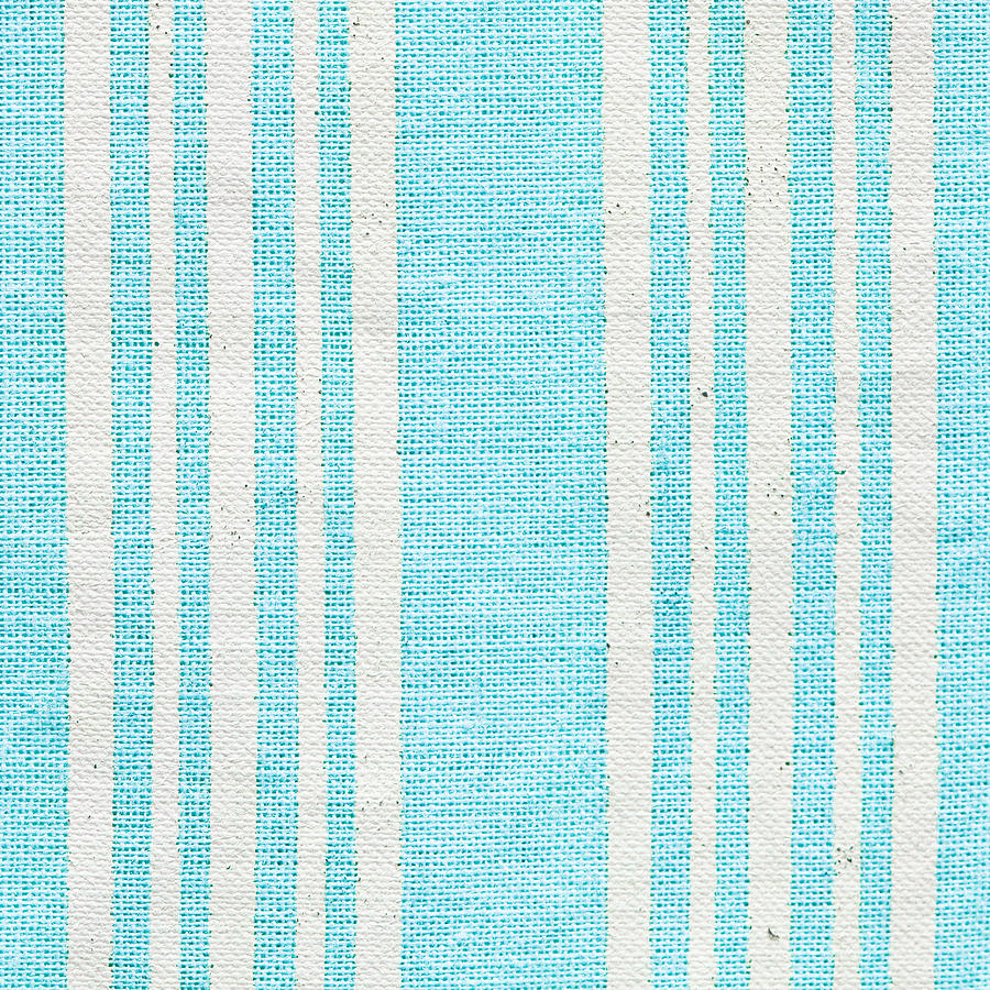 Abstract Photograph - Blue Fabric by Tom Gowanlock