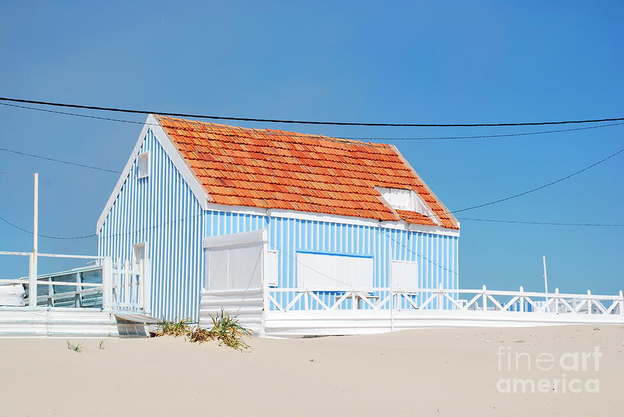 Architecture Photograph - Blue Fisherman House by Luis Alvarenga