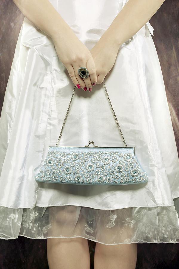 Woman Photograph - Blue Handbag by Joana Kruse