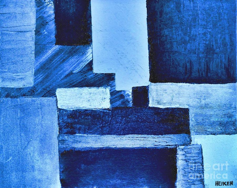 Painting Painting - Blue Hues Abstract by Marsha Heiken