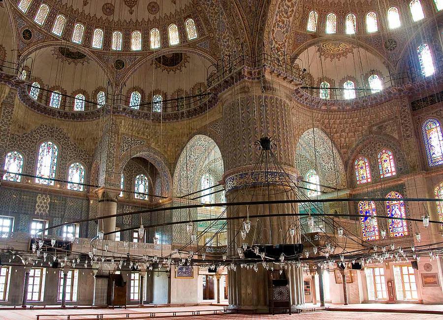 Mosque Photograph - Blue Mosque Wide by Cliff C Morris Jr