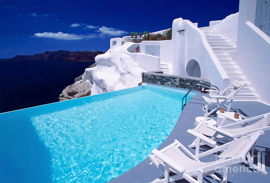 Santorini Photograph - Blue Soda by Aiolos Greek Collections