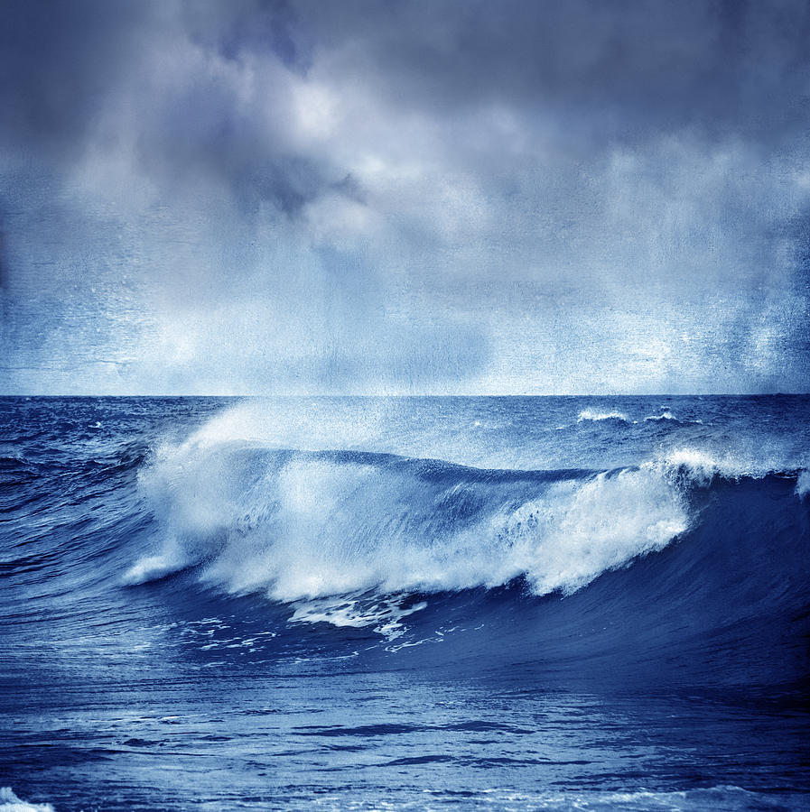 Landscape Photograph - Blue Wave by Guido Montanes Castillo