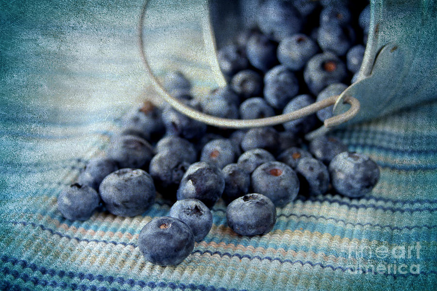 Texture Photograph - Blueberries by Darren Fisher