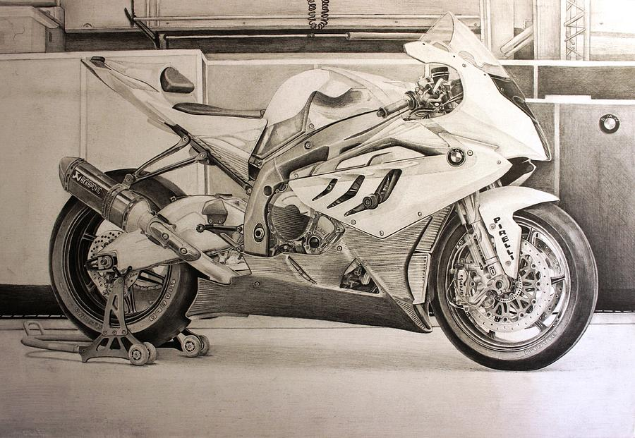 Bmw S1000rr Drawing By Skincandy Nine