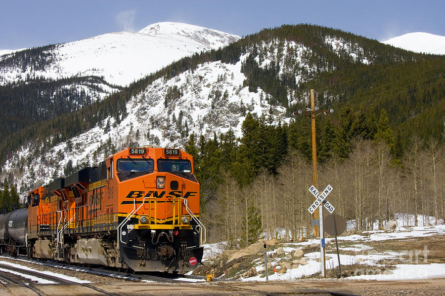 Bnsf Rolls Through Rollins Pass Colorado Photograph