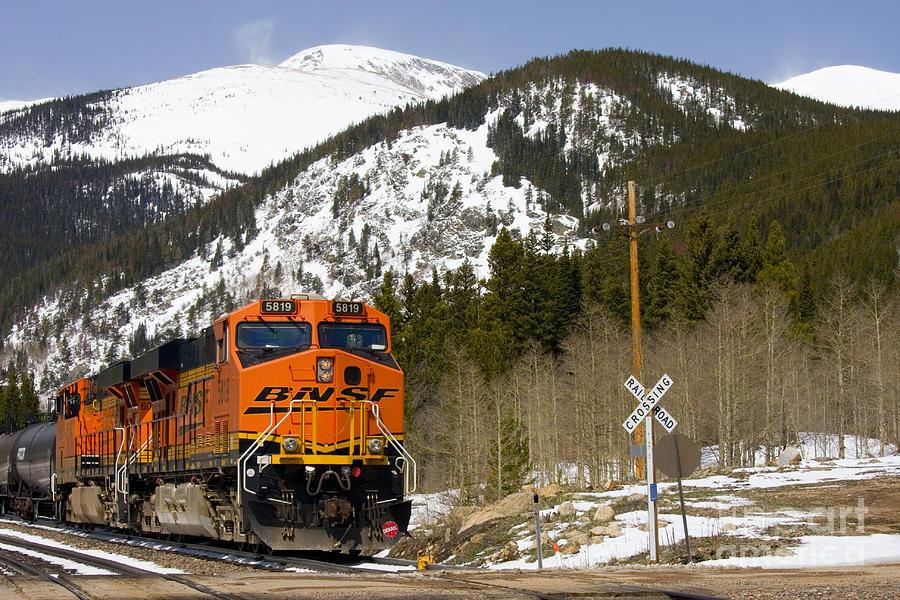 Moffat Tunnel Photograph - BNSF rolls through Rollins Pass Colorado by Steven Krull