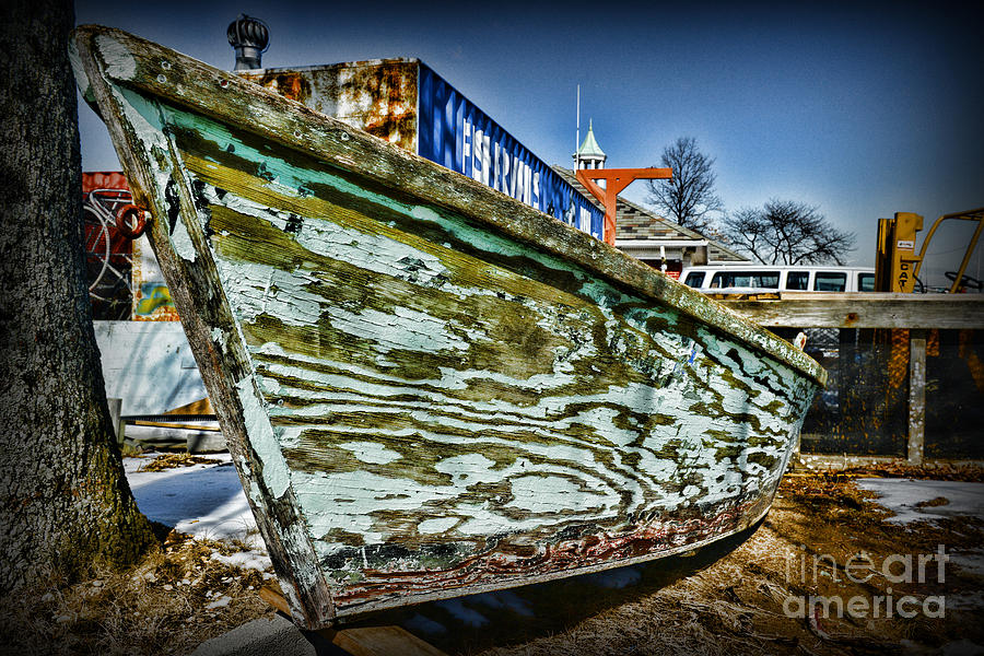 Paul Ward Photograph - Boat Forever Dry Docked by Paul Ward