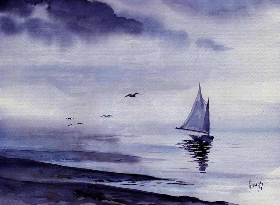 Ocean Painting - Boat by Sam Sidders