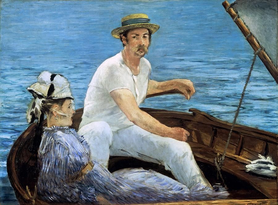 Sailing Painting - Boating by Edouard Manet