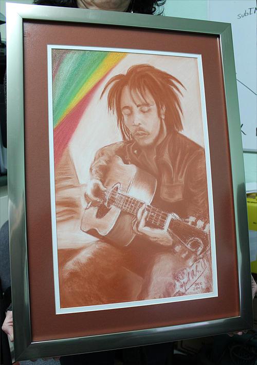 Bob Marley Drawing by Miguel Rodriguez
