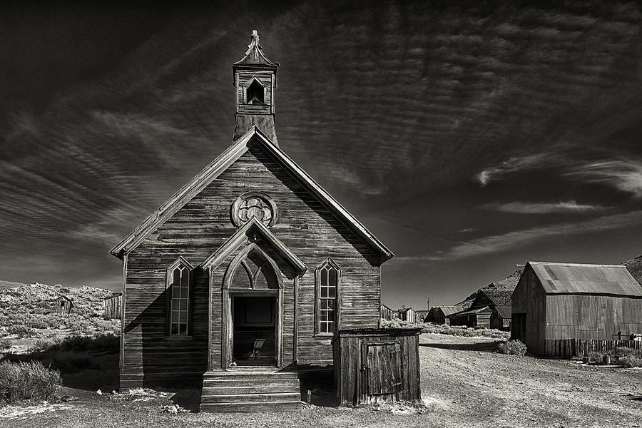 Bodie Photograph - Bodie Church by Robert Fawcett