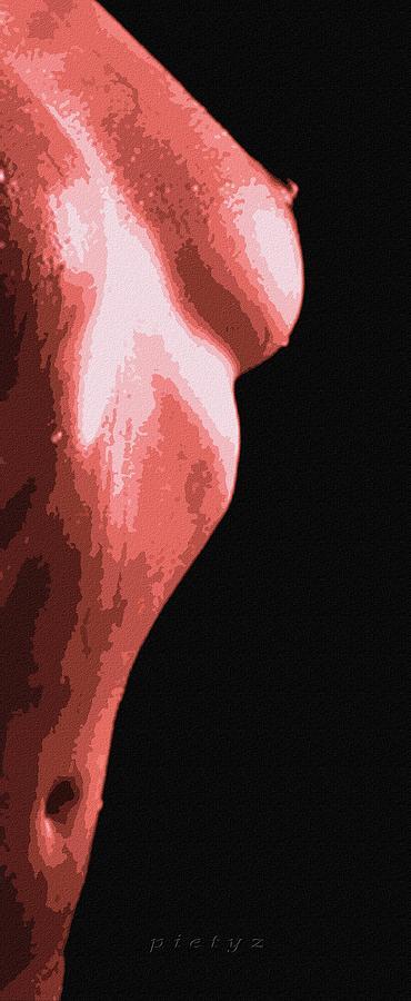 Nude Digital Art - Body Waves 1 by Piety Dsilva