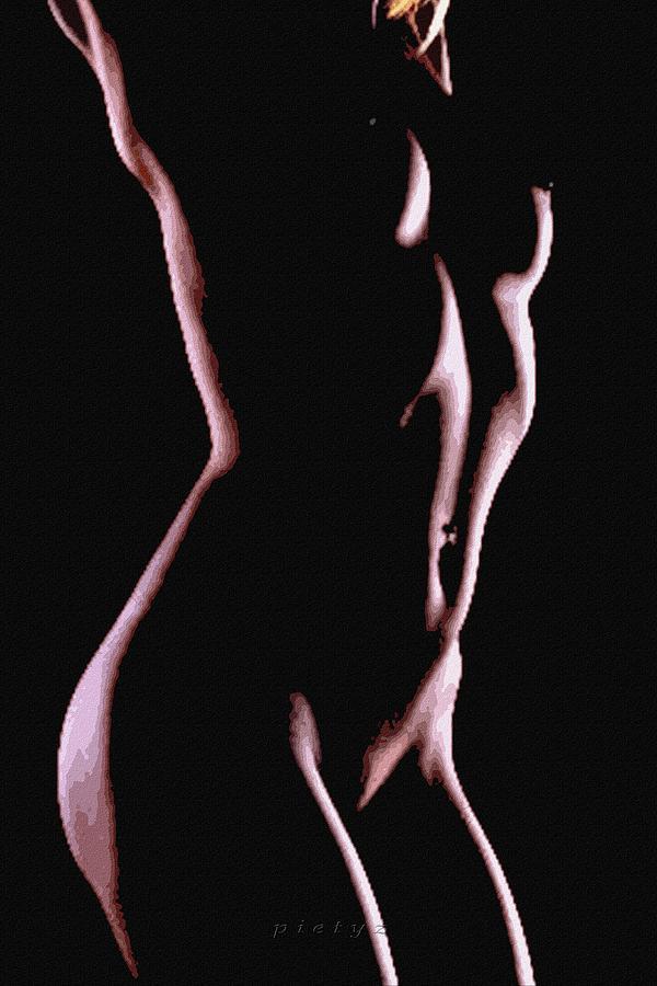 Nude Digital Art - Body Waves 2 by Piety Dsilva