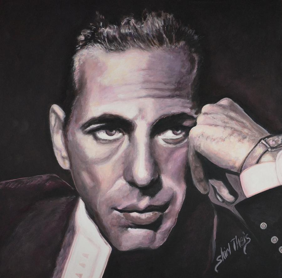 Casablanca Painting - Bogie by Shirl Theis