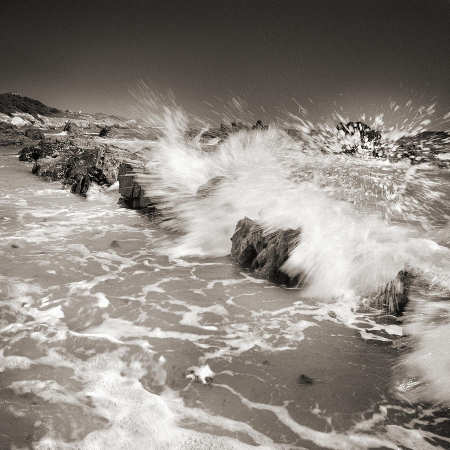 Black And White Photograph - Bolonia Waves by Guido Montanes Castillo