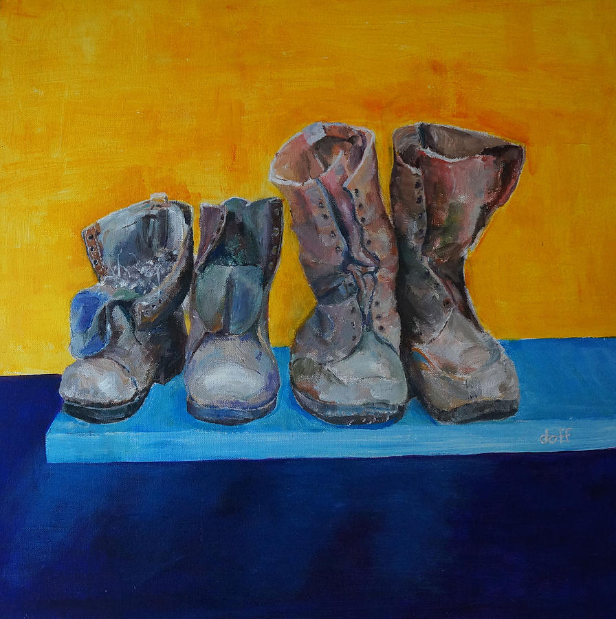 Boots Painting - Boots by David  Hawkins