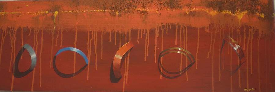 Bossini 5 Rings Painting by Clive Holden