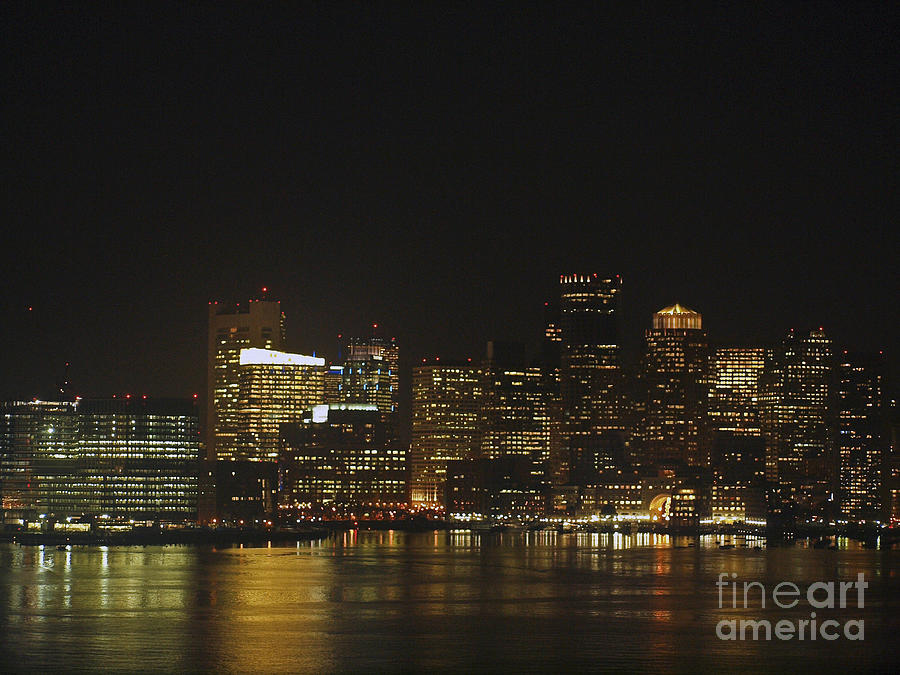 America Photograph - Boston Harbor  by Howard Stapleton