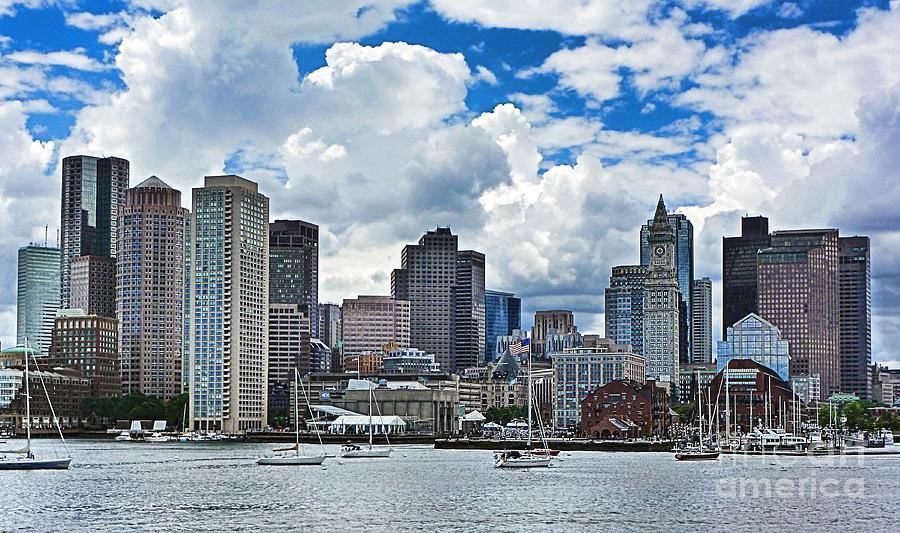 Julia Springer Photograph - Boston Harbor by Julia Springer