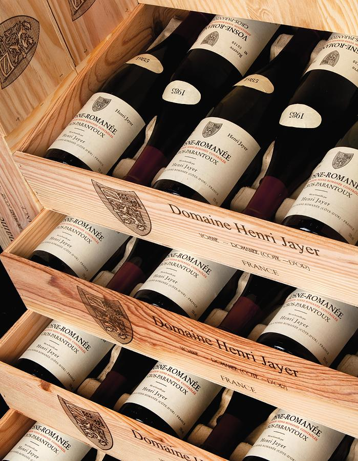 Wine Photograph - Bottles Of Vosne-romanee Premier Cru Cros Parantoux by Anonymous
