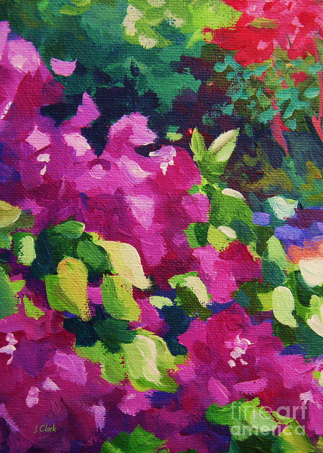 Abstract Painting - Bougainvillea  2 by John Clark