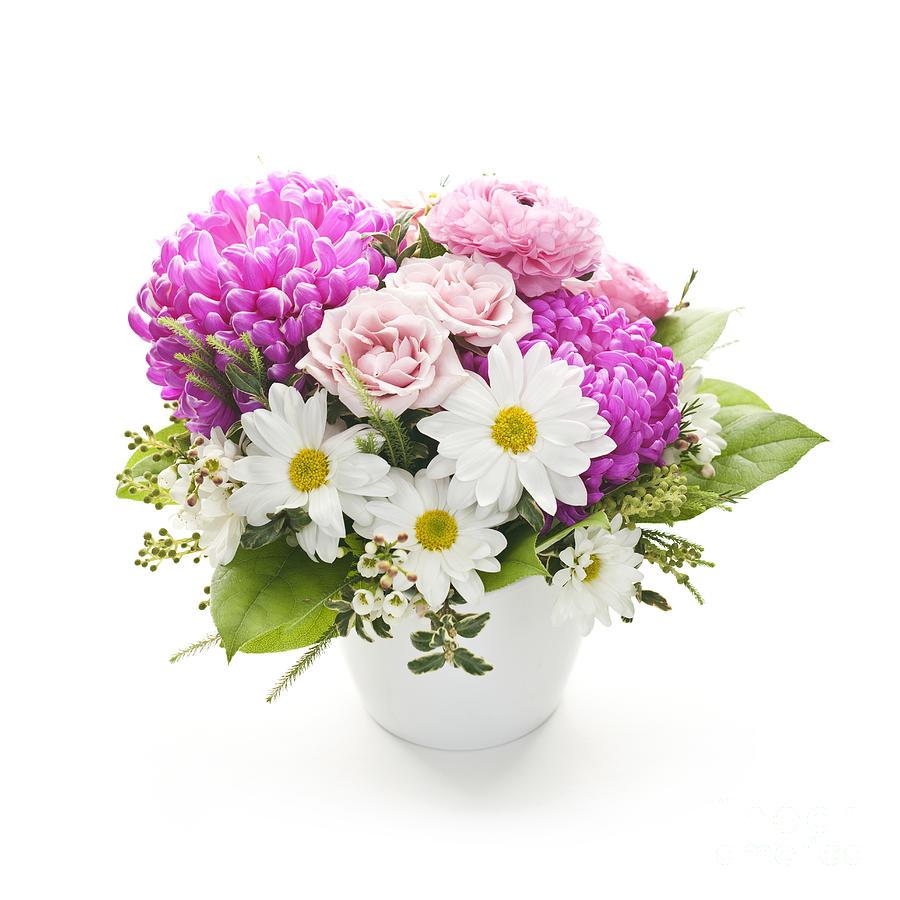 Flowers Photograph - Bouquet Of Flowers by Elena Elisseeva