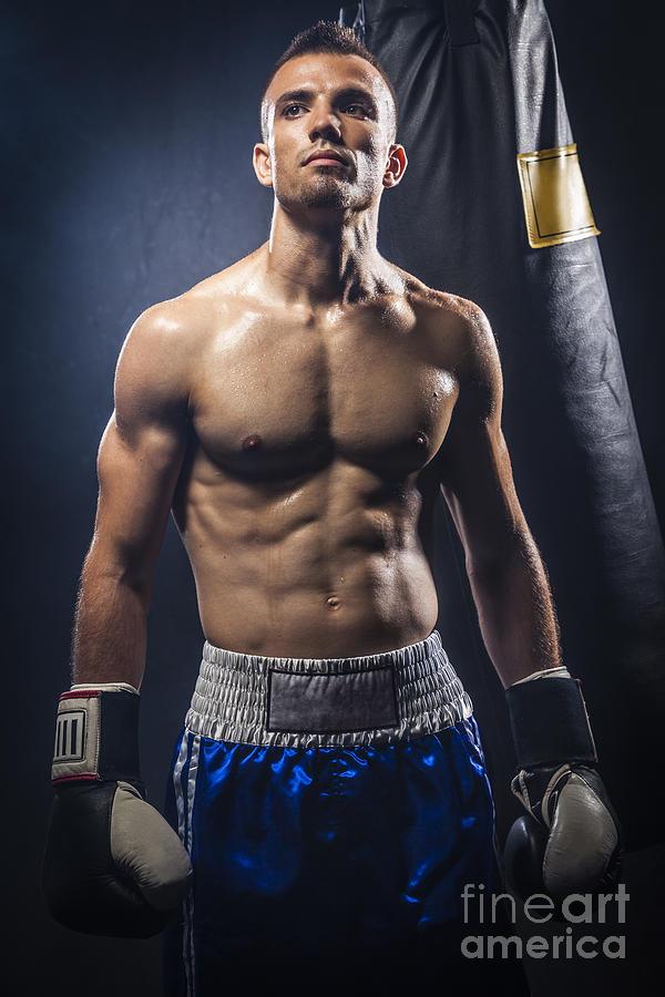 People Photograph - Boxer by Juan Silva