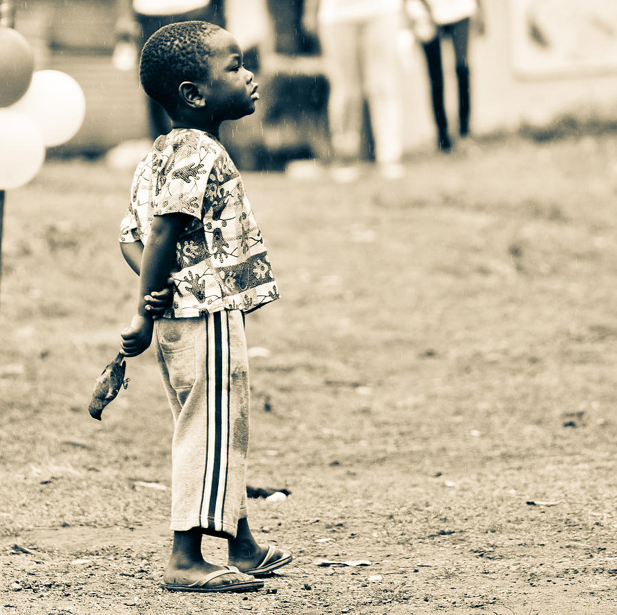 Accra Photograph - Boy With A Bird by Ronda Broatch